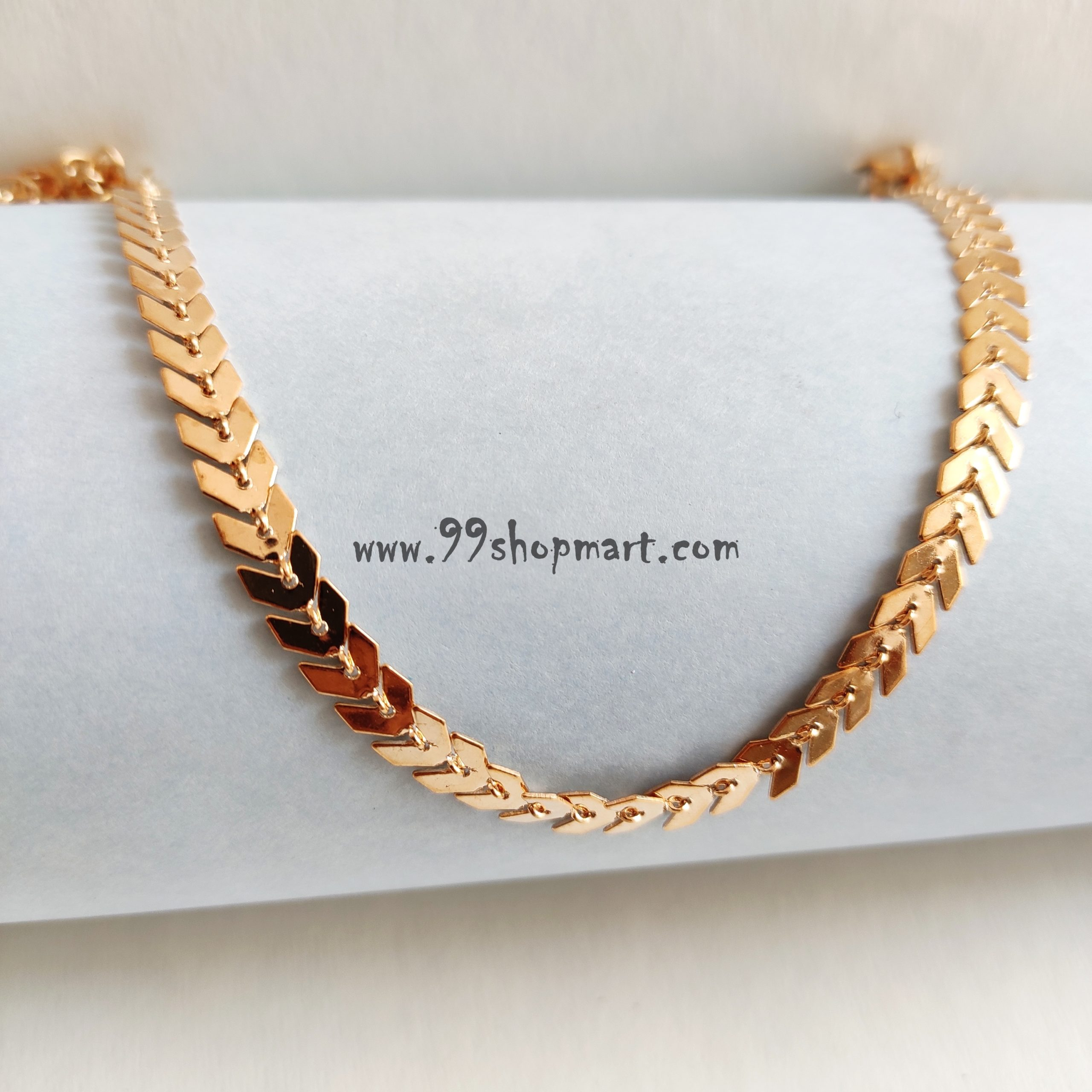 buy fish bone golden multiple arrows clavicle chain short chevron necklace for women girls fashion exquisite jewelry 99shopmart 99SWNC02