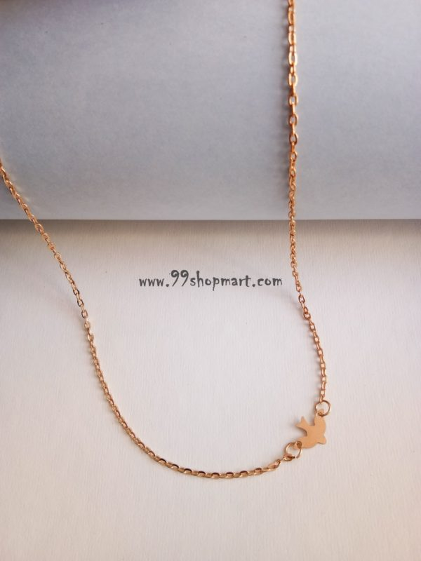 buy tiny dove flying bird peace sideway pendant in golden chain 99shopmart 99SWNP01_02