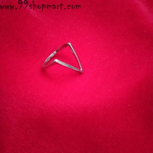 Buy V shape geometric ring for women online trendy and stylish silver colour 99shopmart 99SWR14_01