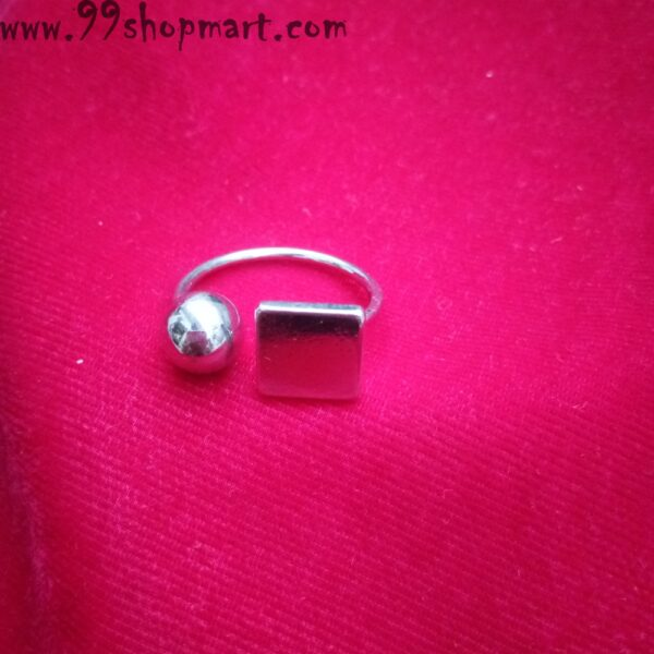 buy silver geometric ring ball square design for womenartificial ring online 99shopmart 99SWR14_05