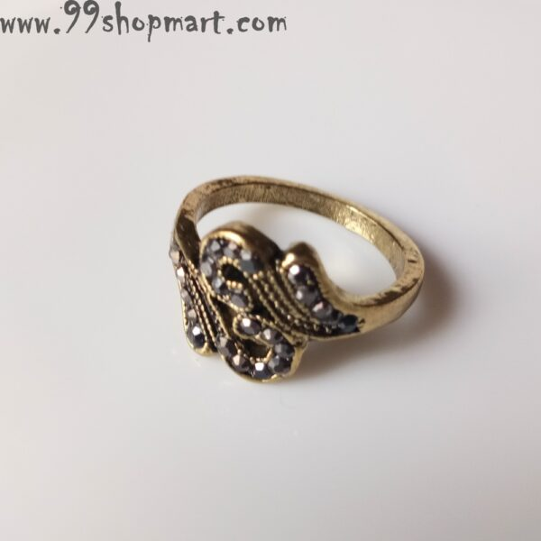 Buy curve design similar joined golden antique ring with zirconia studded stones online 99shopmart 99SWR12_12
