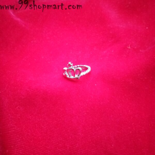 Buy silver crown design king queen ring online on sale 99shopmart 99SWR14_08