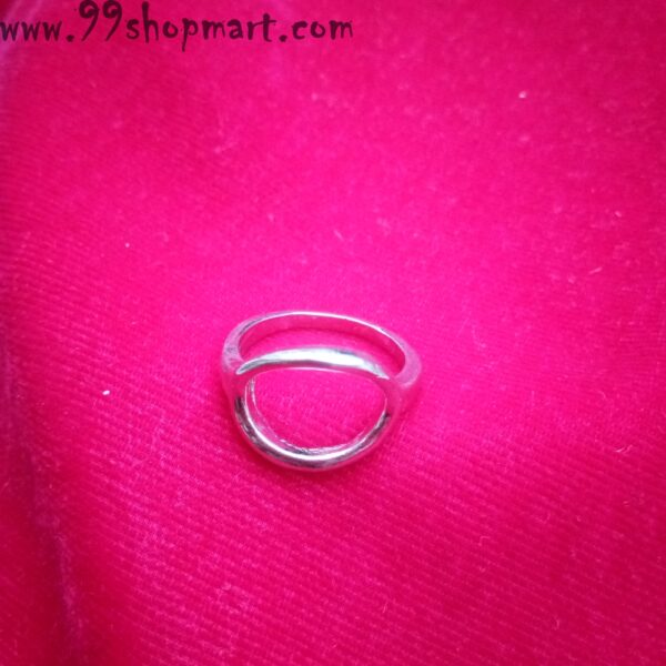 Buy hollow ellipse oval design silver colour artificial ring for women online 99shopmart 99SWR14_07