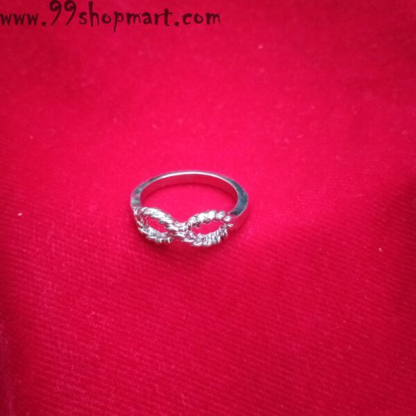 Buy infinity design silver colour artificial hollow ring for women online sale 99shopmart 99SWR14_03