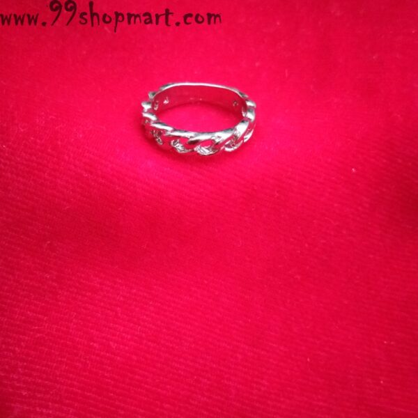 Buy silver chain ring artificial for women online on sale 99shopmart 99SWR14_06