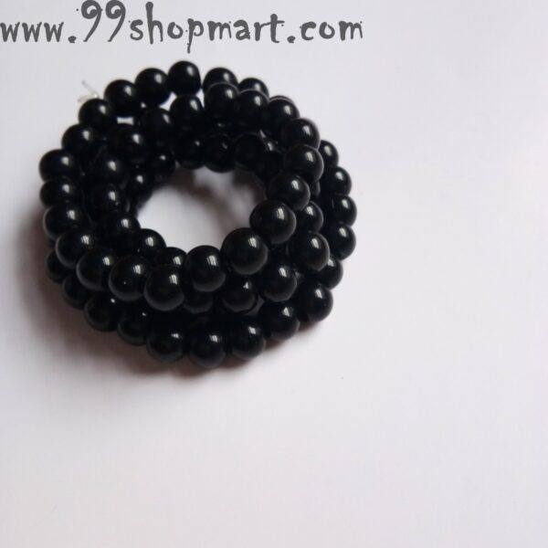 Buy round black beads small size multiwrap bracelet for women men unisex bracelet 99shopmart 99SWBR09_01
