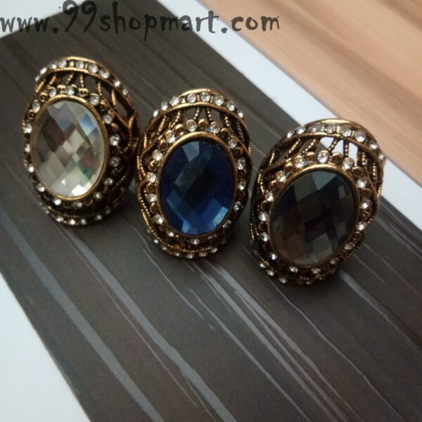 crystal stone big size ring for women online 99shopmart 99SWR19