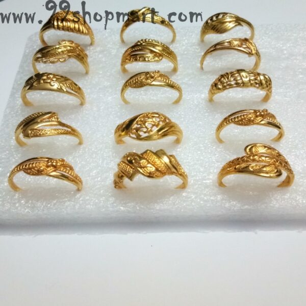 Buy golden colour traditional indian design ring for women online sale 99shopmart 99SWR22_01