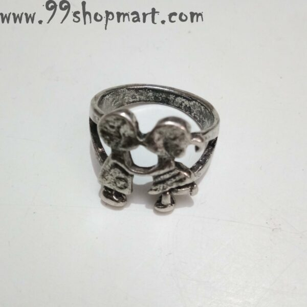 Buy silver colour cute couple kissing ring for women men love valentinge couple gift 99shopmart 99SWR27_01