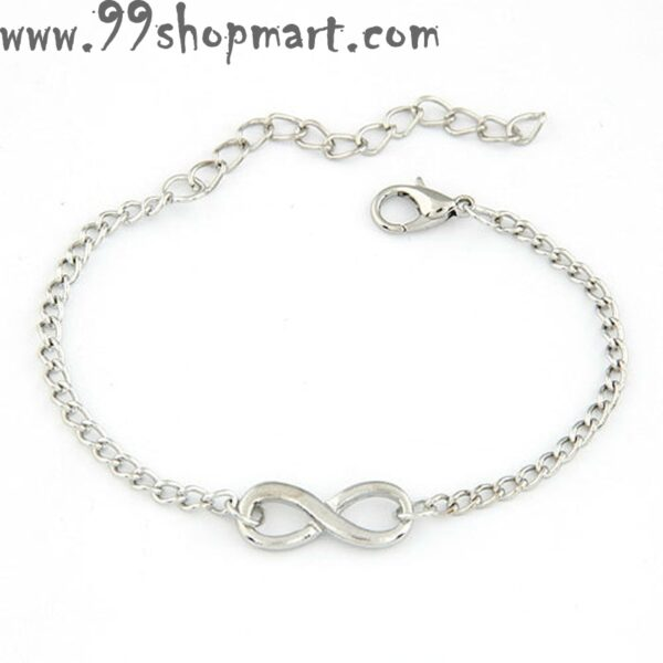 Buy silver infinity charm adjustable bracelet for women girls men biy online shopping 99shopmart 99SWBR05_01