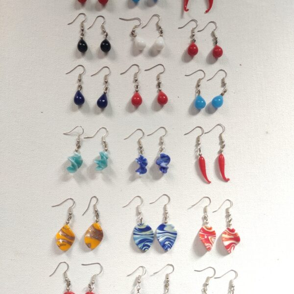 Colourful fashion earrings combo set drop style for women and girls online shopping